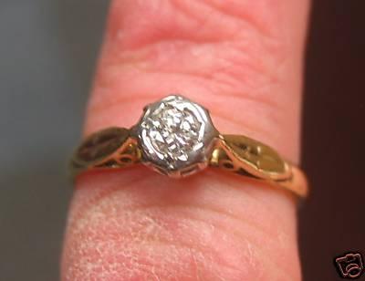 La S 18 Carat Gold Genuine Diamond Ring